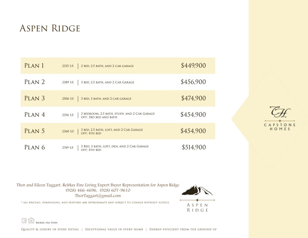 AspenRidgePricing